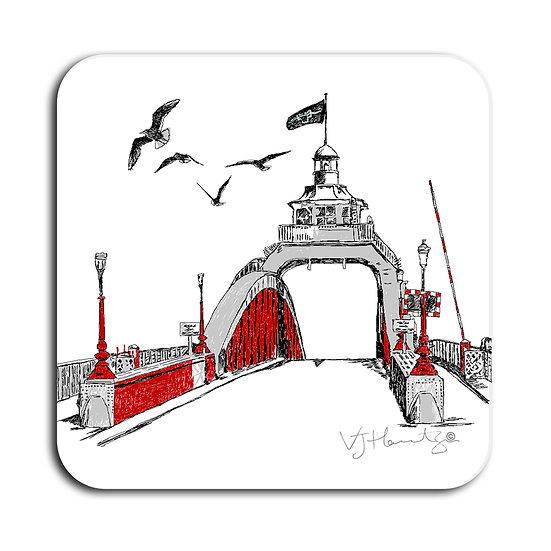 Swing Bridge Hand Crafted Coaster