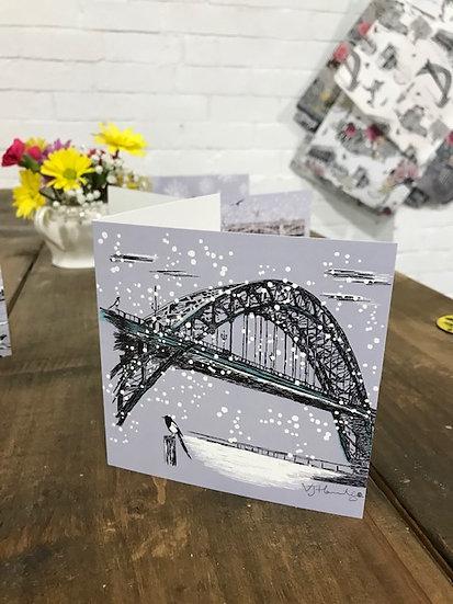 Tyne Bridge Christmas card