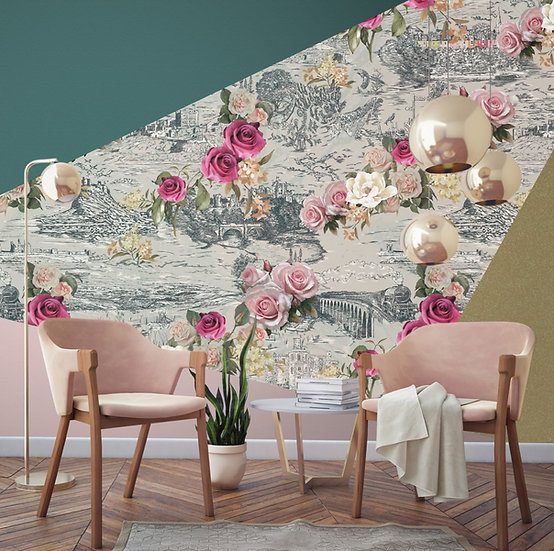 Beauty in The Hills-Magnolia Shimmer Wallpaper