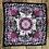 Thumbnail: COASTAL PRINT Handmade Silk Scarf 62 x62 cm HOT PINK