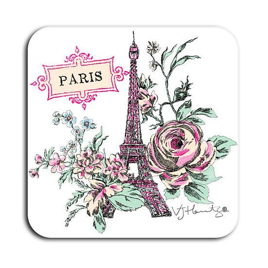 Paris white Hand Crafted Coaster