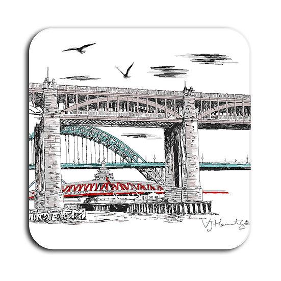 Newcastle Bridges Hand Crafted Coaster