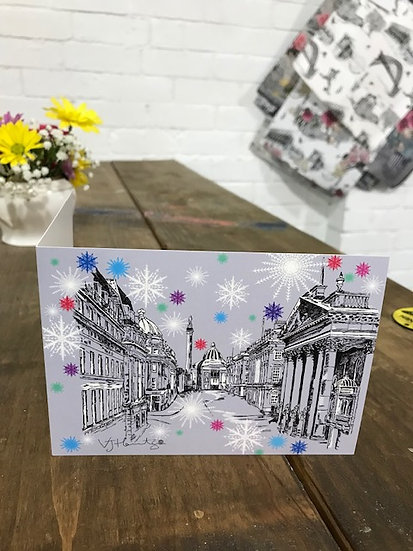 Grey Street Newcastle Christmas card