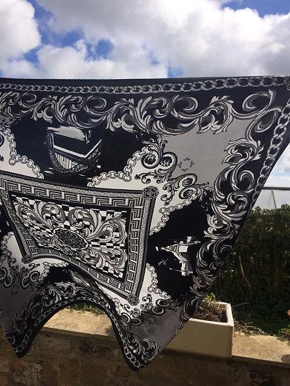 Toon Handmade Silk Scarf 62 x 62 cm Black