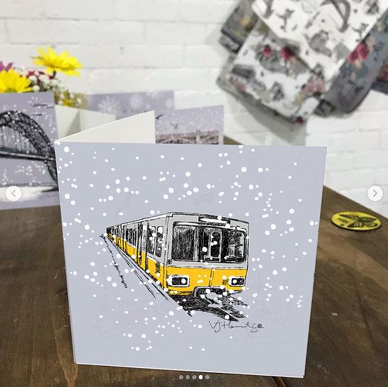 Tyne and wear Metro Christmas card