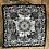 Thumbnail: COASTAL PRINT Handmade Silk Scarf 62 x 62 cm BLACK