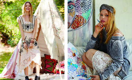 ELLE: Sasha Pivovarova Models, Paints, and Checks Her Horoscope Just Like Us