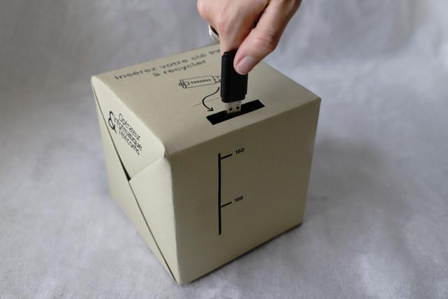 boîtes de recyclage