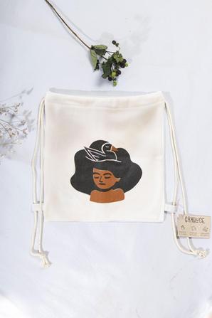 """sac à dos cordon """"dame du lac"""""""