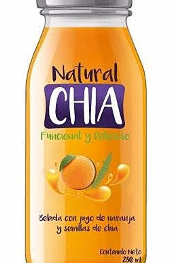 De jugo naranja con propiedades chia del