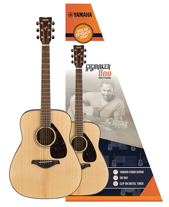 YAMAHA ACOUSTIC GUITAR GIGMAKER800M PACK