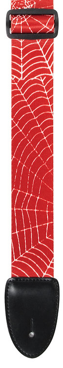 """GUITAR STRAP 2""""POLY MATERIAL RED WEB"""