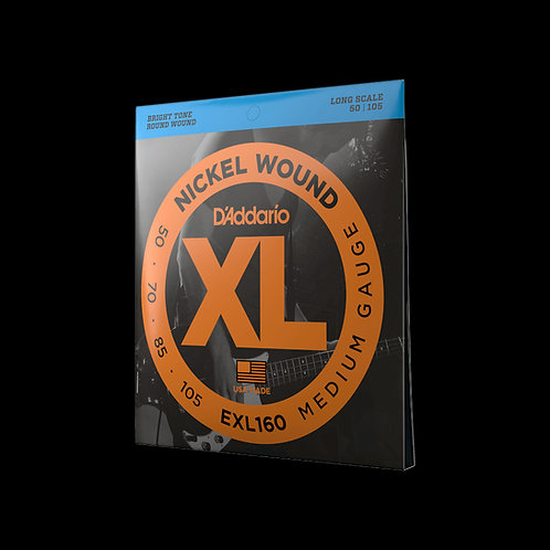 ELECTRIC BASS GUITAR STRINGS D'ADDARIO 50-105