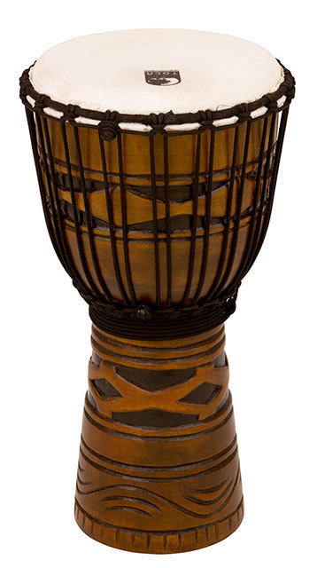 """TOCA WOODEN DJEMBE 10"""" AFRICAN MASK"""