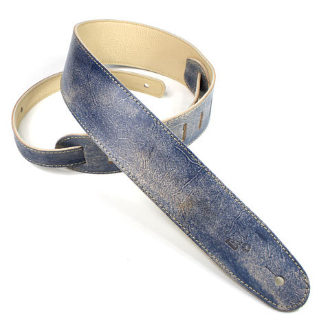 """GUITAR STRAP 2.5"""" Hand Dyed Blue  by DSL"""