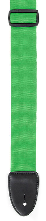 """GUITAR STRAP 2""""POLY WEB MATERIAL GREEN"""