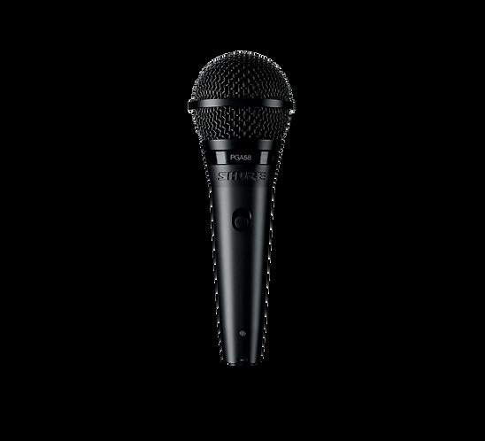 SHURE PGA58XLR VOCAL CARDOID DYNAMIC MICROPHONE