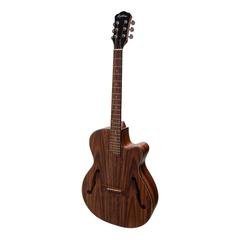 Martinez Jazz Hybrid Acoustic-Electric Small-Body Cutaway Guitar (Rosewood)
