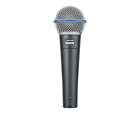 SHURE BETA58A VOCAL SUPERCARDOID DYNAMIC MICROPHONE