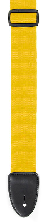 "GUITAR STRAP 2""POLY WEB MATERIAL YELLOW"