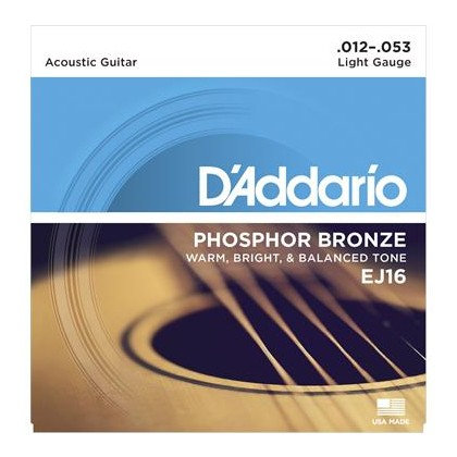 ACOUSTIC GUITAR STRINGS D'ADDARIO 12-53