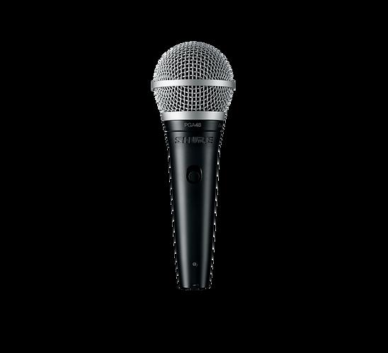 SHURE PGA48XLR VOCAL CARDOID DYNAMIC MICROPHONE