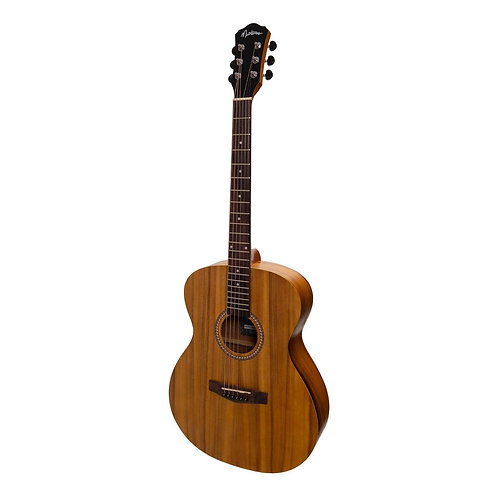 Martinez Small Body Acoustic-Electric Guitar with Built-In Tuner (Koa)