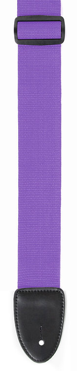 "GUITAR STRAP 2""POLY WEB MATERIAL PURPLE"