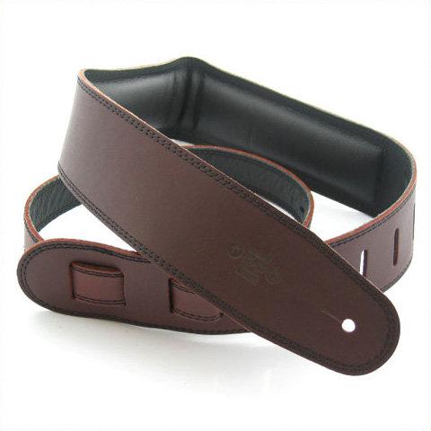"GUITAR STRAP 2.5"" Padded Garment Saddle Brown/Black by DSL"
