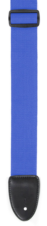 """GUITAR STRAP 2""""POLY WEB MATERIAL BLUE"""