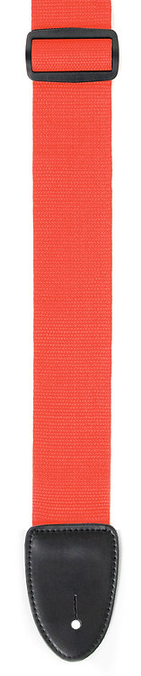 """GUITAR STRAP 2""""POLY WEB MATERIAL RED"""