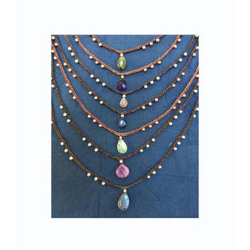 Collection of semi precious collars