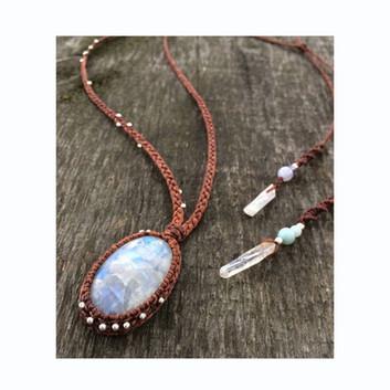 Rainbow Moonstone, Quartz, Amazonite, Blue Lace Agate
