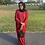 Thumbnail: Maroon khadijah Kaftan