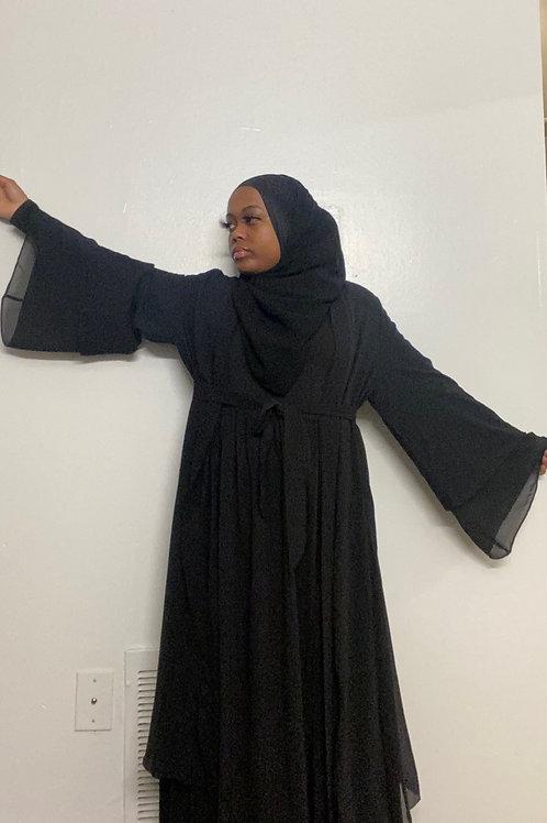 Layered Open Abaya