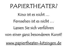 Papiertheater Kitzingen Gabriele Brunsch