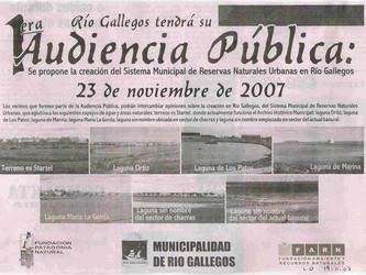10 años de la primera Audiencia Pública de Río Gallegos y Santa Cruz