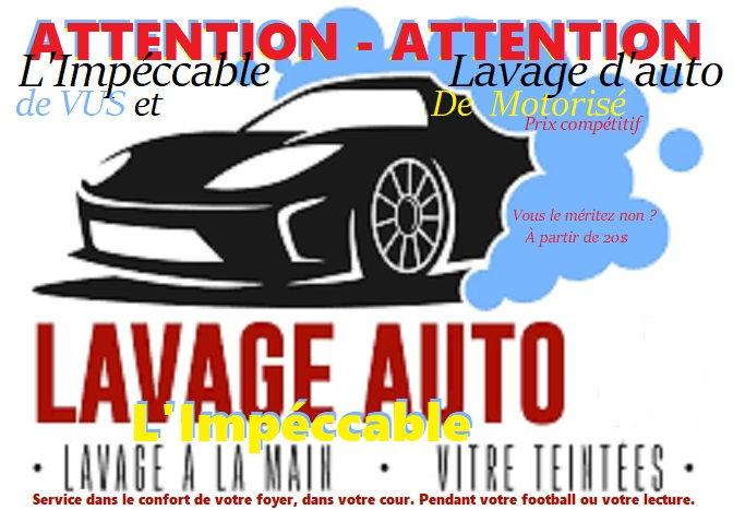 LAVAGE D'AUTOS/VUS/MOTORISÉs