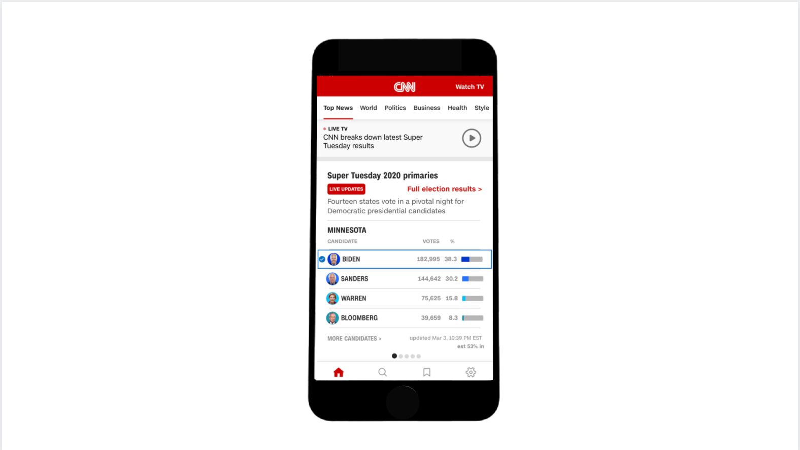 Managed the launch of CNN's app election results modules on Super Tuesday