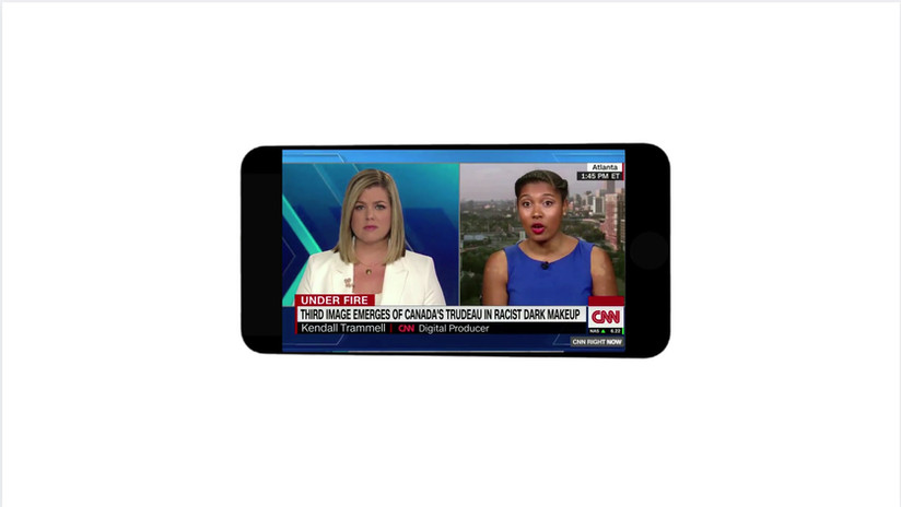 Appeared live on air to discuss my explainer on racist makeup after photos surfaced of Canadian PM Justin Trudeau in blackface