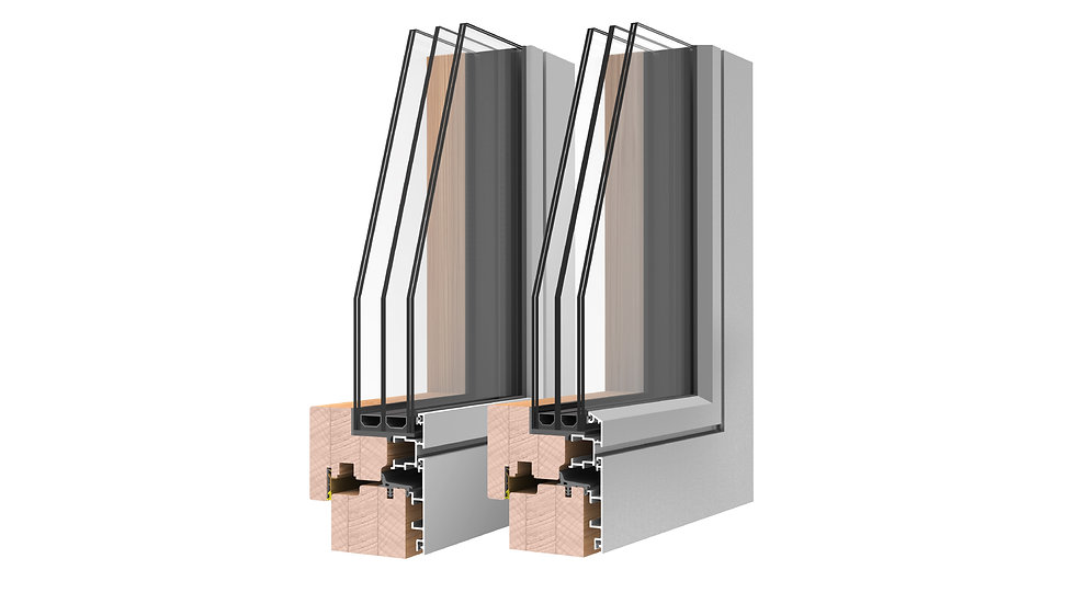 Uni Tilt & Turn AluClad Windows