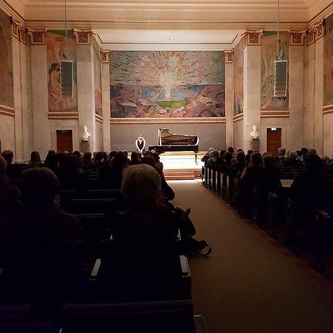 Recital at Oslo University Aula 2018
