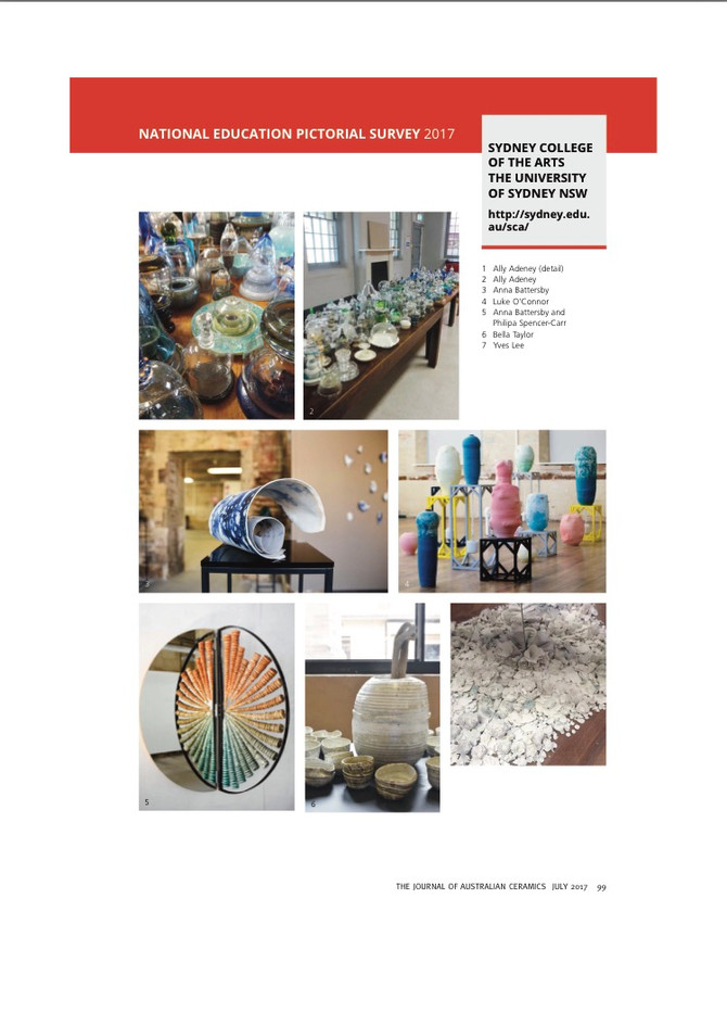 Published in the Journal of Australian Ceramics