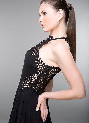 HANDMADE LACE BACKLESS DRESS