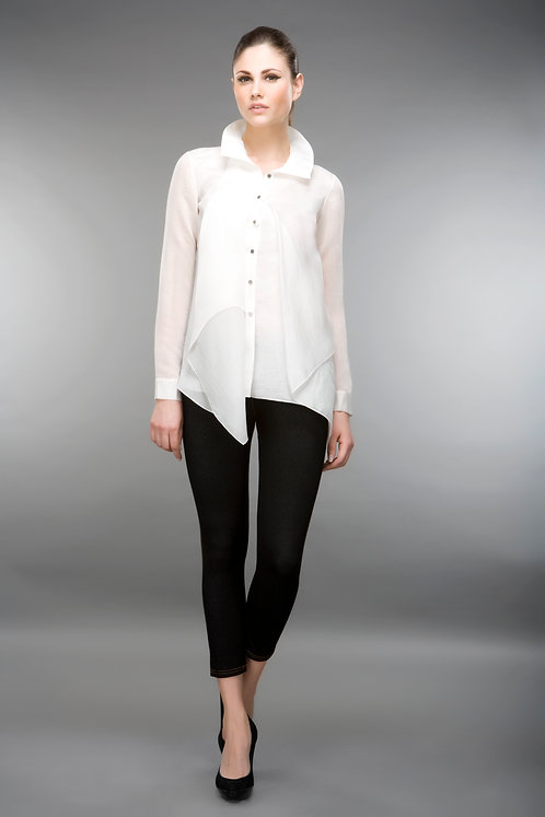 SHEER SHIRT WITH PANELS