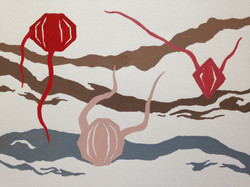 gem roots painting