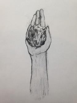 pan hand stone