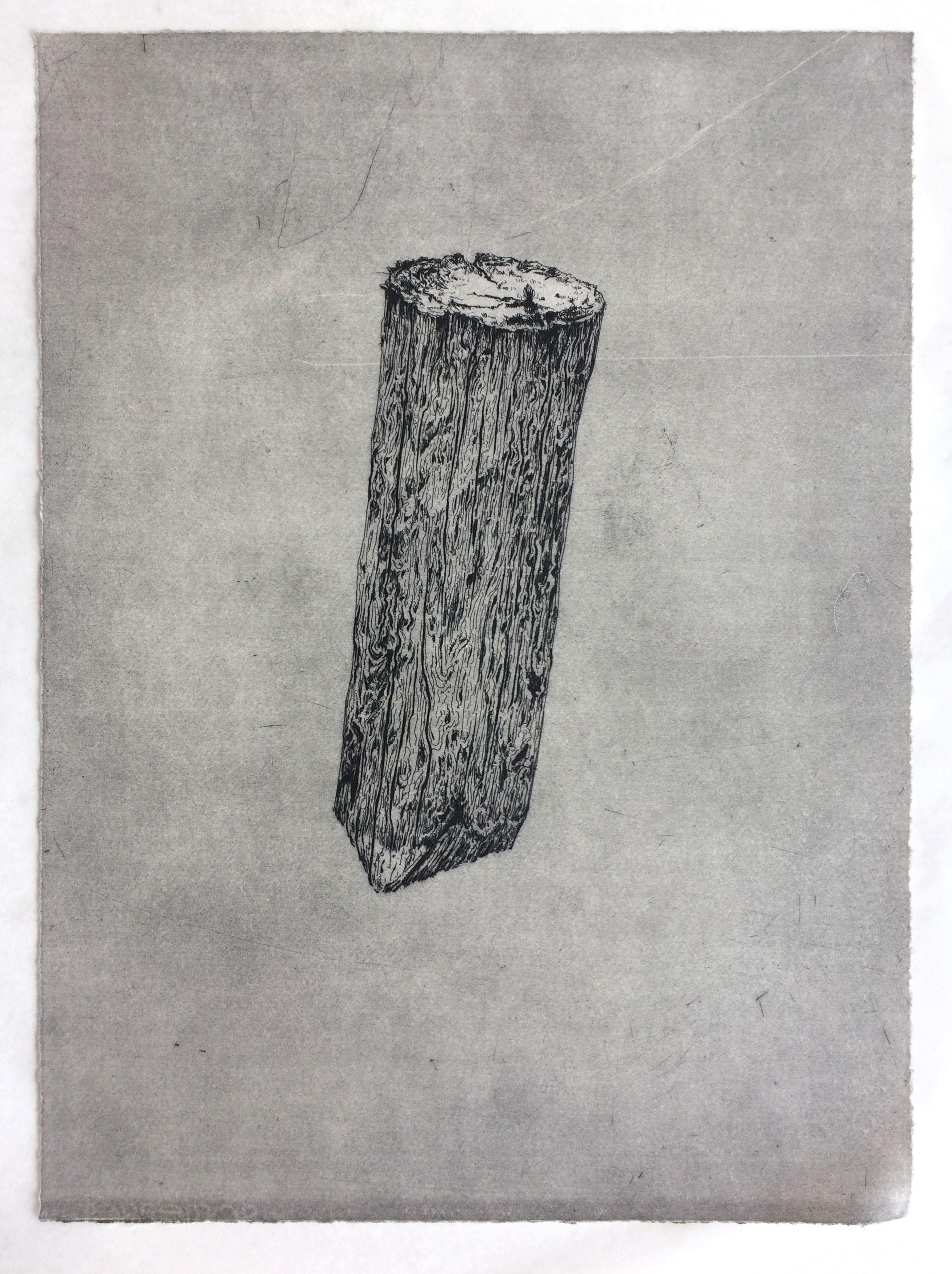 'Peg' - Hardground etching, 29 x 42cm