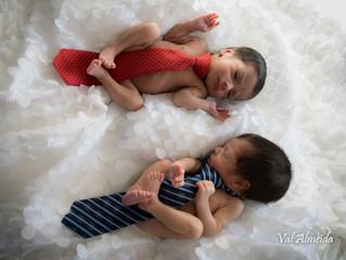 Ensaio dos gêmeos fofinhos Brian e Benício