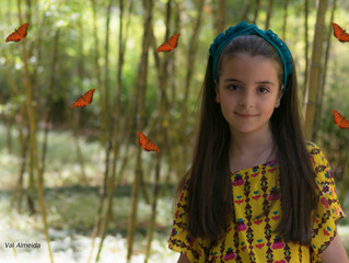 Milena e as borboletas!!! Muito linda!!!